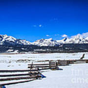 The Sawtooth Mountains Poster