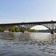 The Schuylkill River And Strawbery Mansion Bridge Poster by Bill Cannon