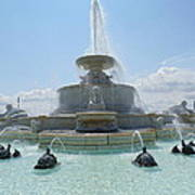 The Scott Fountain On Belle Isle Poster