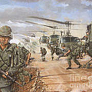 The Screaming Eagles In Vietnam Poster by Bob  George