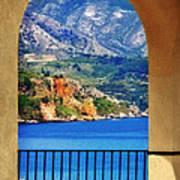 The Sea Through The Portico Poster