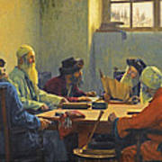 The Seven Rabbis In Jerusalem Poster