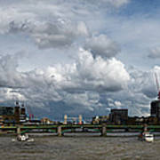 The Shard And The Thames At Southwark Poster