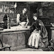 The Shopkeeper, Percy Macquoid, 1852-1925 Poster