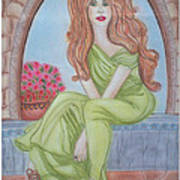 The Sibyl - Grecian Goddess Poster