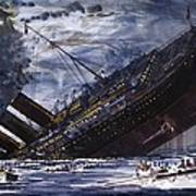 The Sinking Of The Titanic Poster