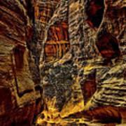 The Siq Path Slot Canyon  Poster