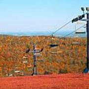 The Skiing Fields In Autumn Poster