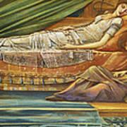 The Sleeping Princess Poster by Sir Edward Burne-Jones