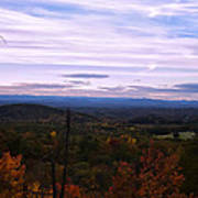 The Smokey Mountains From Hanging Rock State Park Poster