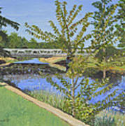 The South Nation River At Spencerville Historic Mill Poster