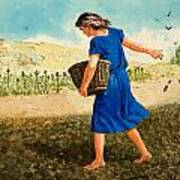 The Sower Of The Seed Poster by Clive Uptton