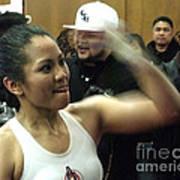 The Speed Of Woman's Boxing Champion Ana Julaton Poster