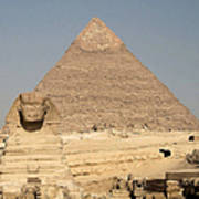 The Sphinx Guarding The Pyramid Poster