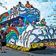 The Spirit Of Mardi Gras Poster by Steve Harrington