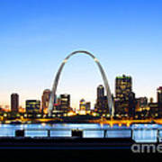 The St. Louis Skyline Poster