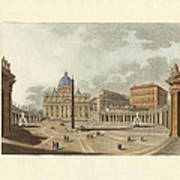 The St. Peter's Cathedral In Rome Poster by Splendid Art Prints