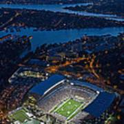 Husky Stadium At Dusk Poster