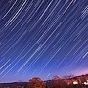 The Star Trail In Ithaca Poster