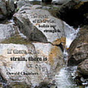 The Strain Of Life... - Yosemite Poster