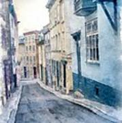 The Streets Of Old Quebec City Poster