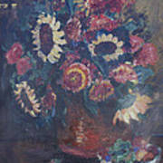 The Sunflower Bouquet Poster