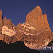The Sunrise Of Fire Mt Fitzroy Poster
