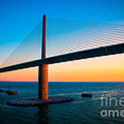 The Sunshine Under The Sunshine Skyway Bridge Poster