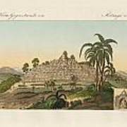 The Temple Of Buddha Of Borobudur In Java Poster