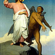The Temptation Of Christ Poster