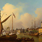 The Thames And Tower Of London On The King's Birthday Poster