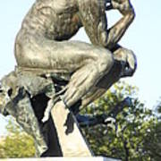 The Thinker Cleveland Art Statue Poster