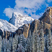Cathederal Rocks And Bridalveil Poster