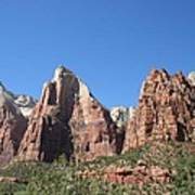 The Three Patriarchs - Zion Park Np Poster