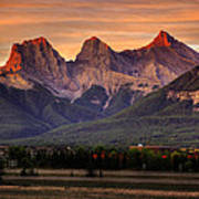 The Three Sisters Canmore Poster