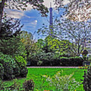The Tower Over A Garden Poster