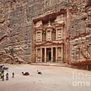 the treasury Nabataean ancient town Petra Poster by Juergen Ritterbach