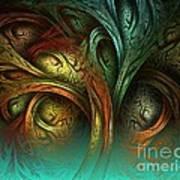 The Tree Of Life Poster by Sandra Bauser Digital Art