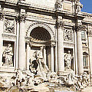 The Trevi Fountain - Rome - Italy Poster