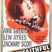 The Unfaithful, Us Poster, Ann Poster