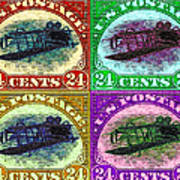 The Upside Down Biplane Stamp Four - 20130119 Poster