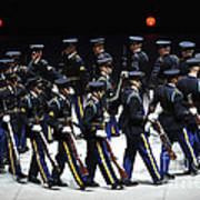 The U.s. Army Drill Team Performs Poster