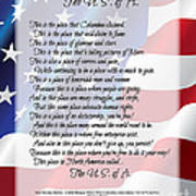 The U.s.a. Flag Poetry Art Poster Poster by Stanley Mathis
