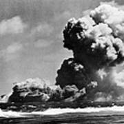 The Uss Wasp Burning Poster