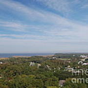 The View From The Top Of Currituck Beach Lighthouse  Poster