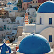 The Village Of Oia Santorini Cyclades Poster