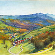 The Village Of Wieden In The Black Forest Poster