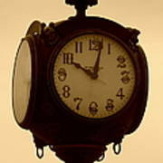 The Vintage Town Clock Poster
