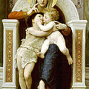 The Virgin The Baby Jesus And Saint John The Baptist Poster