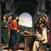 The Vision Of St Bernard Poster